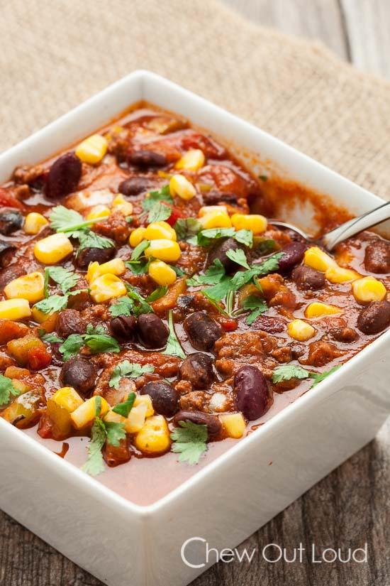 Slow Cooker Chili With Black Beans And Corn Recipe
