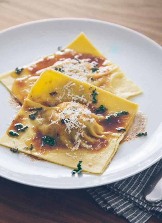 ... Butternut Squash and Swiss Chard Ravioli with Sage Brown Butter Sauce