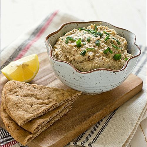 Get the recipe here for Roasted Cauliflower Hummus