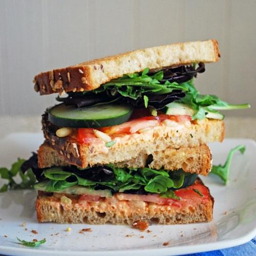 Goat Cheese And Veggie Sandwich