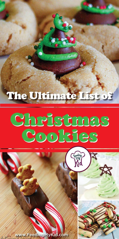 Christmas cookies list