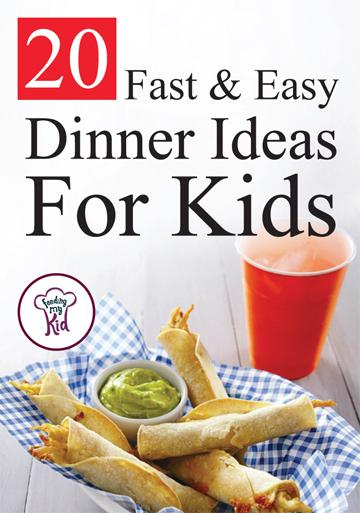 20 fast and easy dinner ideas for kids for Fun kids dinner ideas