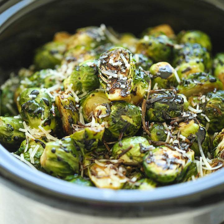 Slow Cooker Balsamic Brussels Sprouts
