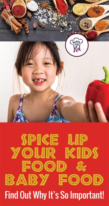 Spice up your kids food to get them to eat foods they normally wouldn't. Add spices to homemade baby food. Find out more here. #pickyeating #getkidstoeat #spice #spiceupfood #food