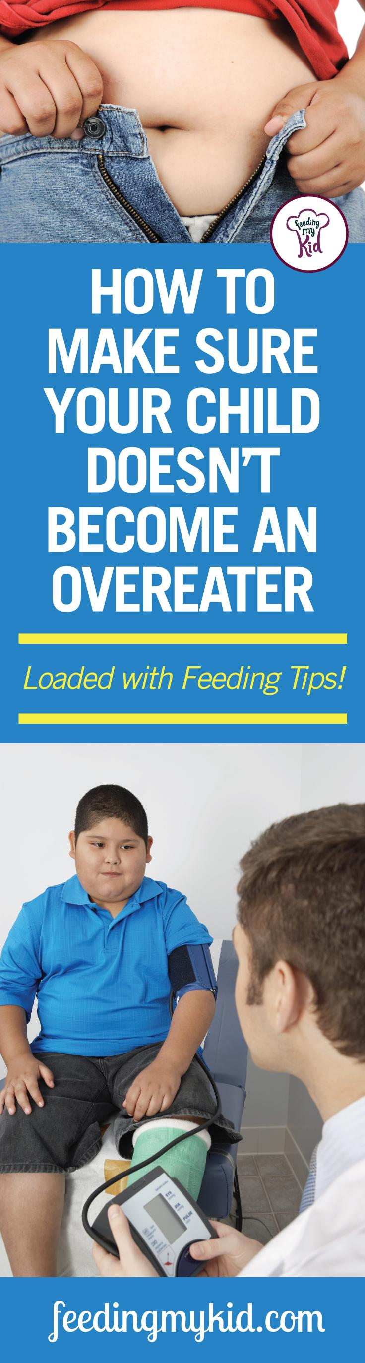 This is a must share! Find out how to stop overeating in kids. Feeding My Kid is a website for parents that's full of information you need to raise your kids, from health tips to nutritious recipes. #overeating #stopovereating