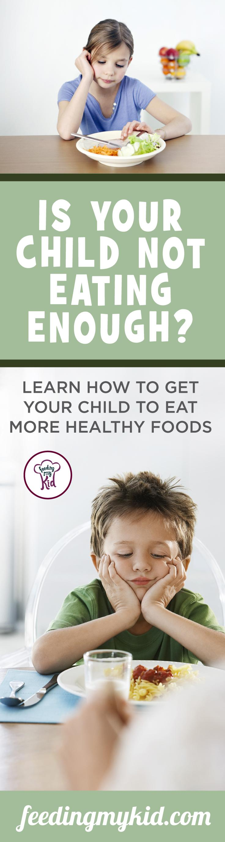 This is a must pin! Is your child an under eater? Everything you'll need to know about how to improve your child's eating habits. Feeding My Kid is a website for parents, filled with all the information you need about how to raise your kids, from healthy tips to nutritious recipes. #parenting #healthyeating #undereater