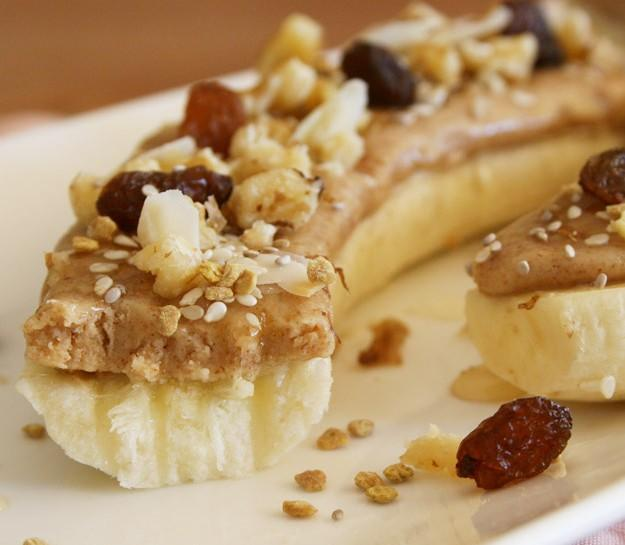 Almond Butter and Banana Open Sandwich Recipe