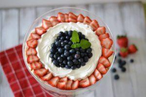Berry Trifle with Homemade Whipped Cream