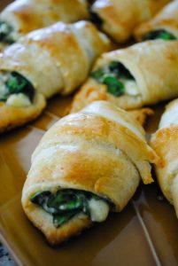 Easy Spinach Crescent Rolls