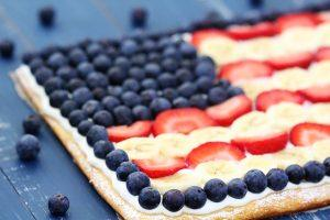 Flag Fruit Pizza