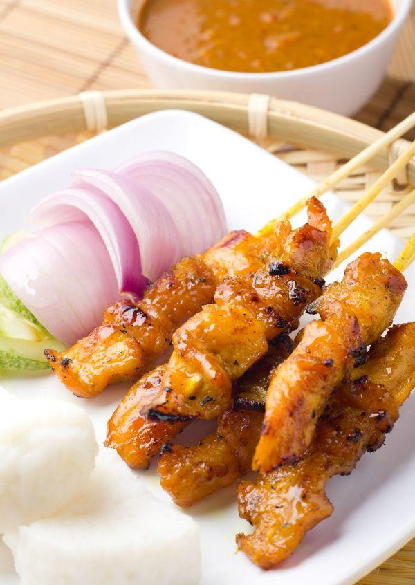 Spicy Peanut Chicken Satay