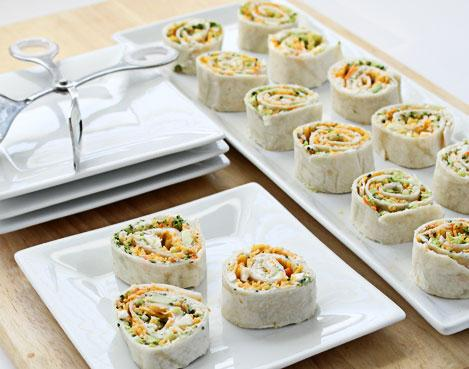 Vegetable Tortilla Rollups Recipe