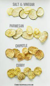 Zucchini Chips different flavors