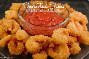 Panko Fried Shrimp and Cocktail Sauce Dip