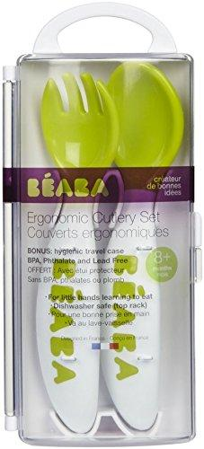 BEABA New 2nd Stage Soft Cutlery, Sorbet, 2 Count
