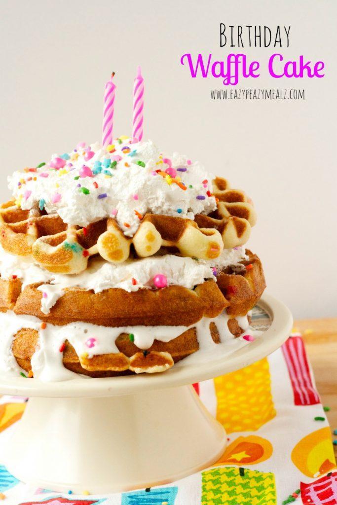 Birthday Waffle Cake Recipe