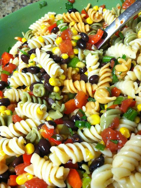 Black Bean & Corn Pasta Salad. Recipe
