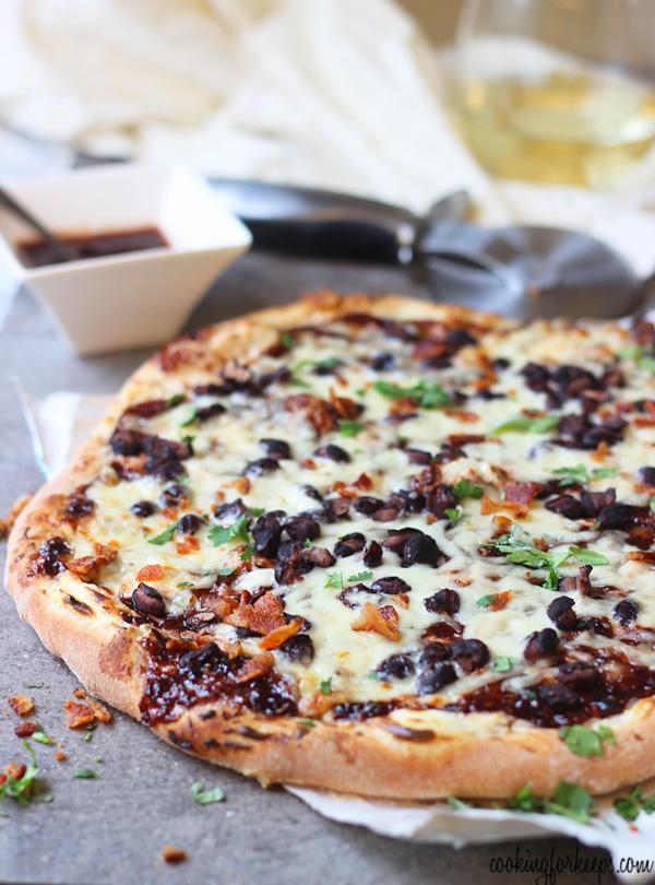 Chipotle Raspberry And Black Bean PIizza