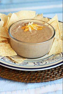 Cheesy Refried Bean Dip Recipe