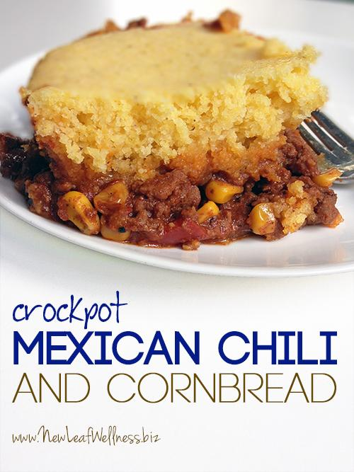 Fun Crockpot Dinner Ideas- Mexican Chili with Cornbread