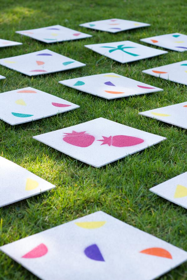 BBQ Party Ideas for Kids-DIY Giant Lawn Matching Game