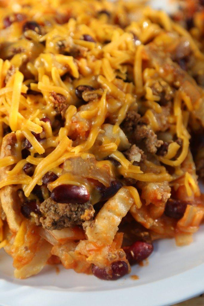 Fun Crock Pot Dinner Ideas- French Fry Casserole