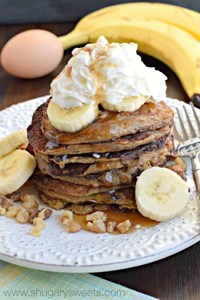 Healthy Banana Nut Pancakes Recipe