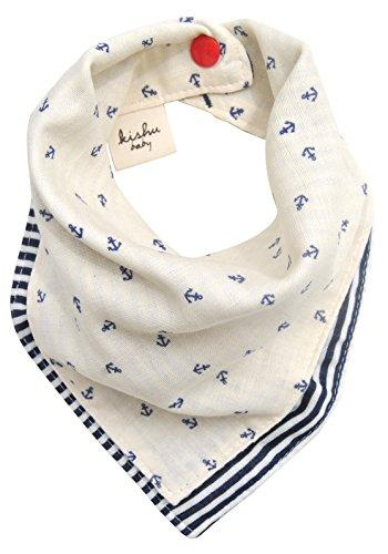Kishu Baby Boy's Reversible Nautical Bandana Bib
