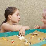 Occupational Therapist Working-on-Sensory Activities with Child