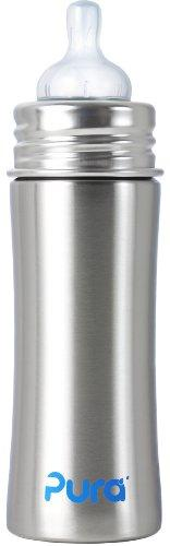 Pura Kiki Stainless Infant Bottle Stainless Steel with Natural Vent Nipple