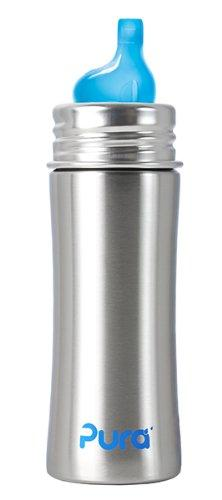Pura Kiki Stainless Sippy Bottle Stainless Steel with XL Sipper Spout