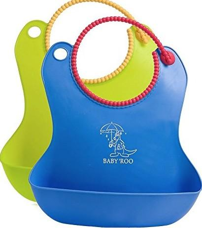 Rainy Day Waterproof Baby Bibs with Pocket for Catching Messy Spills