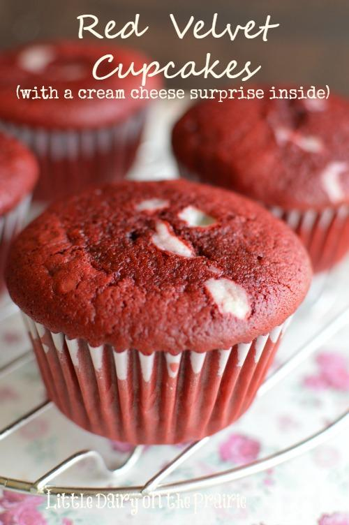 Red Velvet Cupcakes (with Cream Cheese Surprise Inside) Recipe