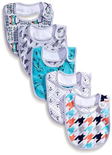 Rosie Pope Baby-Boys Newborn Baby Boy Print 5-Pack Bibs
