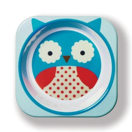 Feeding My Kids Top Picks: Skip Hop Zoo Melamine Owl Plate and Bowl Set. This adorable set will delight any kid!