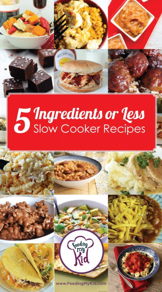 5 Ingredients or Less Slow Cooker Recipes