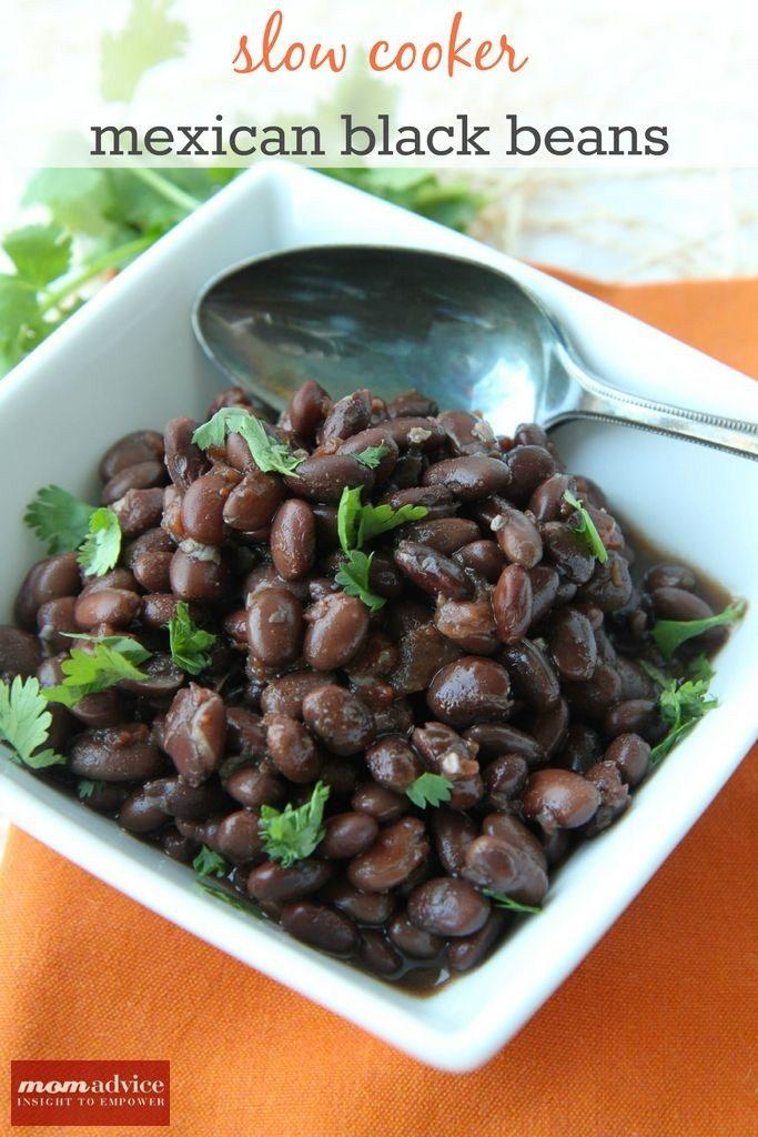 Slow Cooker Mexican Black Beans Recipe