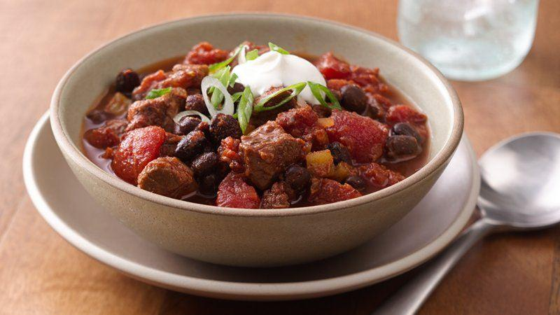 Slow-Cooker Steak and Black Bean Chili Recipe