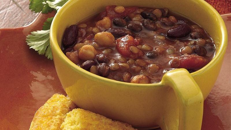 Slow-Cooker Three-Bean Chili Recipe