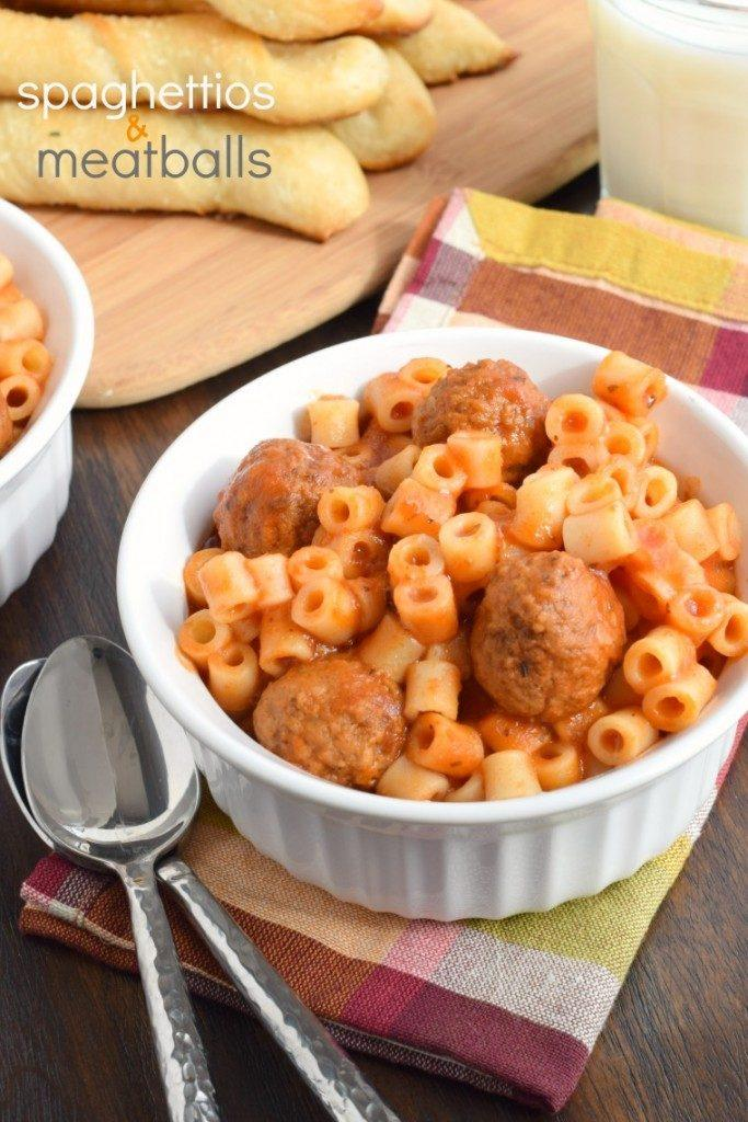 Fun Crock Pot Dinner Ideas- Spaghettios and Meatballs