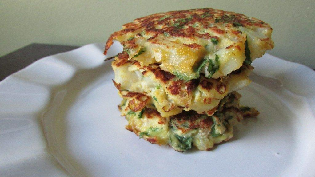 Spinach Potato Pancakes Recipe