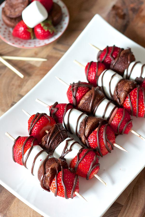 Strawberry Brownie Kabobs Recipe