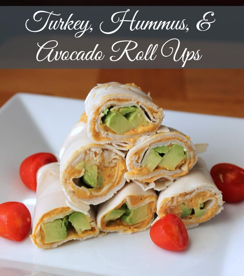 Turkey, Avocado, and Hummus Roll Ups {No Bread} Recipe