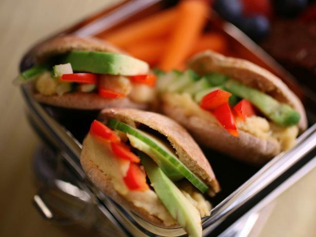 Veggie-Stack Pita Pockets Recipe