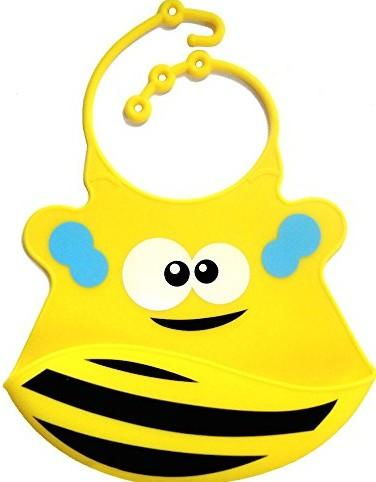 Waterproof Silicone Bib With Crumb Catche