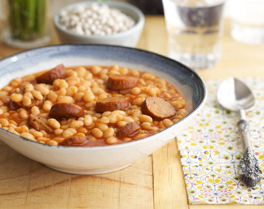White Beans and Sausage in the Crock Pot Recipe