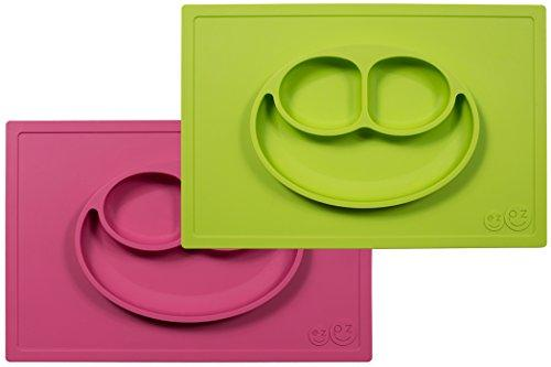 Feeding My Kid''s Top Picks: Ezpz Happy Mat. This two in one placemat + plate suctions to the table, which means that it captures kids' messes and doesn't allow for tipped bowls or plates.
