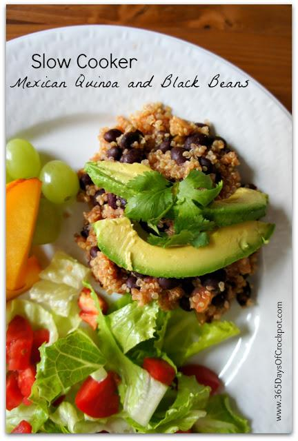 Recipe for Slow Cooker Mexican Quinoa and Black Beans
