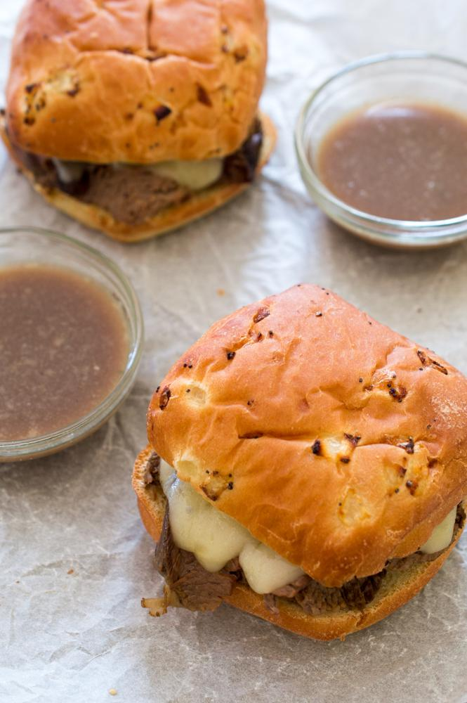 super Easy Slowcooker Beef Pot Roast Sandiches Recipe