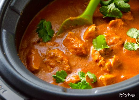 Crock Pot Indian Recipes- Whole Crock Pot Butter Chicken Recipe